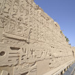 Egyptian hieroglyphic carvings on a wall — Stock Photo #19837501