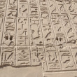 Egyptian hieroglyphic carvings on a wall — Stock Photo #19837799