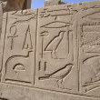 Egyptian hieroglyphic carvings on a wall — Stock Photo #19838279