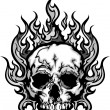 Flaming Skull Graphic Vector Image - Stock Vector