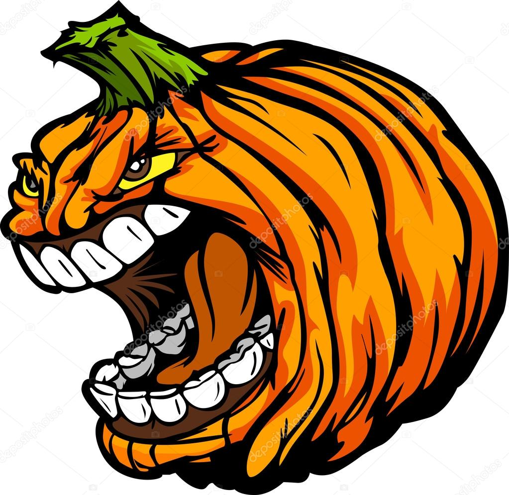 Vector de dibujos animados cabeza calabaza jack o lantern for Calabaza halloween dibujo