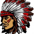 Indian Chief Mascot Head Vector Graphic — ストックベクタ #7327901