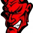 Demon Devil Mascot Head Vector Illustration — Wektor stockowy  #8523799