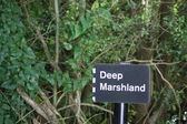 Deep Marshland sign — Stock Photo