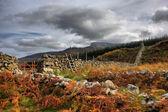 Mountainous Welsh countryside view — Stock Photo