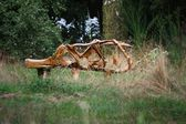 A wooden sculpture — Stock Photo