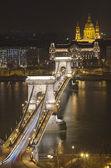 Chain Bridge and St. Stephen's Basilica — Stock Photo