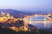 View of Budapest at night, Hungary — Stock Photo