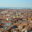 Aerial view of beautiful old roof in venice city — Stock Photo