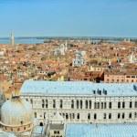 Aerial panoramic view of venice city — Stock Photo