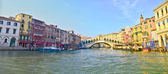 Panoramic view of Grand Canal in Venice — Stock Photo