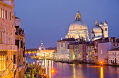 Grand Canal and Basilica Santa Maria della Salute, Venice — Stock Photo
