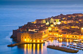 Dubrovnik by night, Croatia — Stock Photo