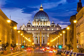 Front View of Saint Peter's Basilica — Stock Photo
