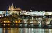 The Charles Bridge at night — Stock Photo