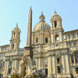 Piazza Navona, Agone church - Stock Photo