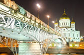 Cathedral of Christ the Saviour at night — Stock Photo