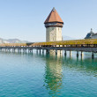 Famous wooden bridge in Lucerne — Stock Photo