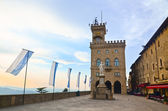 Central square of San Marino — Stock Photo