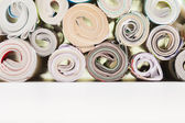 Rolls of paper for recycling — Stock Photo