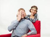 Guy and girl — Stock Photo