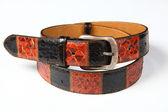 Genuine leather strap python — Stock Photo