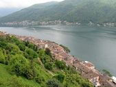 Morcote, Lugano lake — Stock Photo