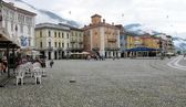Piazza Grande in Locarno — Stock Photo
