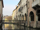 Canale dei Buranelli in the historic center of Treviso (Italy) — Stock Photo