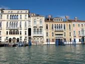 Palaces on the Grand Canal in Venice, Italy — Stock Photo