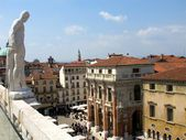 Vicenza from above, Italy — Stock Photo