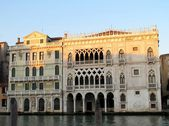 Ca' d'Oro palace at the Grand Canal in Venice, Italy — Stockfoto