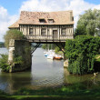 Old mill in the bridge on the Seine at Vernon in Normandy France — Stock Photo #37791363