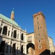 Stock Photo: PalladiBasilicand medieval tower in Vicenza, Italy