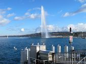 Jet of the fountain in the lake of Geneva — Stock Photo