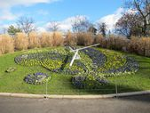 The flower clock in the Jardin Anglais in Geneva — Stock Photo
