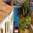 Colorful narrow street in Mali Losinj — Stock Photo