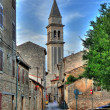 图库照片: Vodnj- hihgest bell tower in Istria