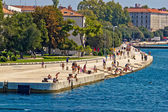 ZADAR, CROATIA - AUGUST 24th 2012: Zadar sea organs — Stock Photo