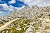Velebit mountain road serpentine near Tulove grede — Stock Photo
