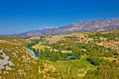 Green valley of Zrmanja river — Stock Photo