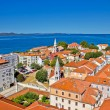 Stock Photo: Colorful city of Zadar rooftops & towers
