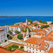 Colorful city of Zadar rooftops & towers — Stock Photo