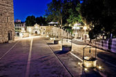 Five well square in Zadar, evening view — Stock Photo
