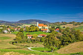 Idyllic green nature of croatian village of Glogovnica — Stock Photo