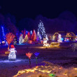 Village in christmas lights, panoramic view — Stock Photo #15710359
