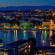 Zadar harbor bay night panorama — Stock Photo #17972089