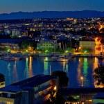 Zadar harbor bay night panorama — Stock Photo #17972089