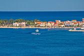 Zadar peninsula tourist destination and blue sea — Stock Photo