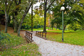 City of Zagreb autumn park — Stock Photo
